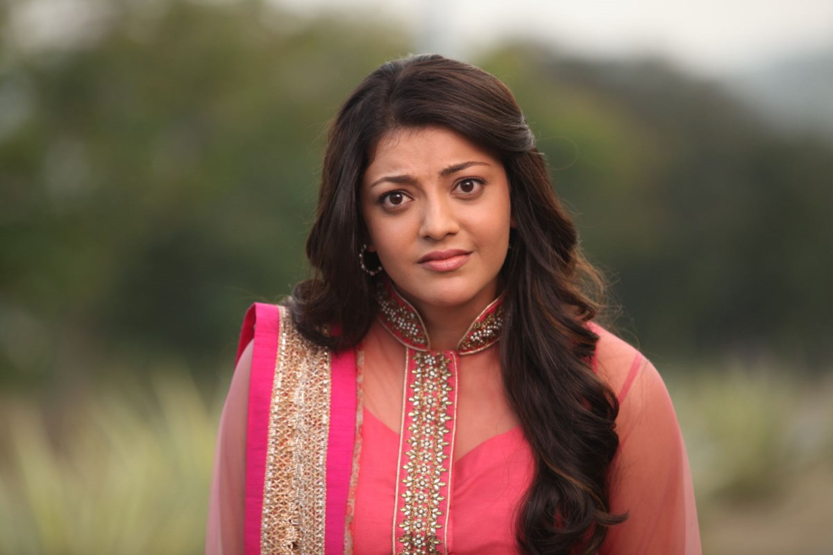 Kajal Agarwal Latest Pictures in Pink Long Dress in Sarocharu Movie ~ Celebs Next