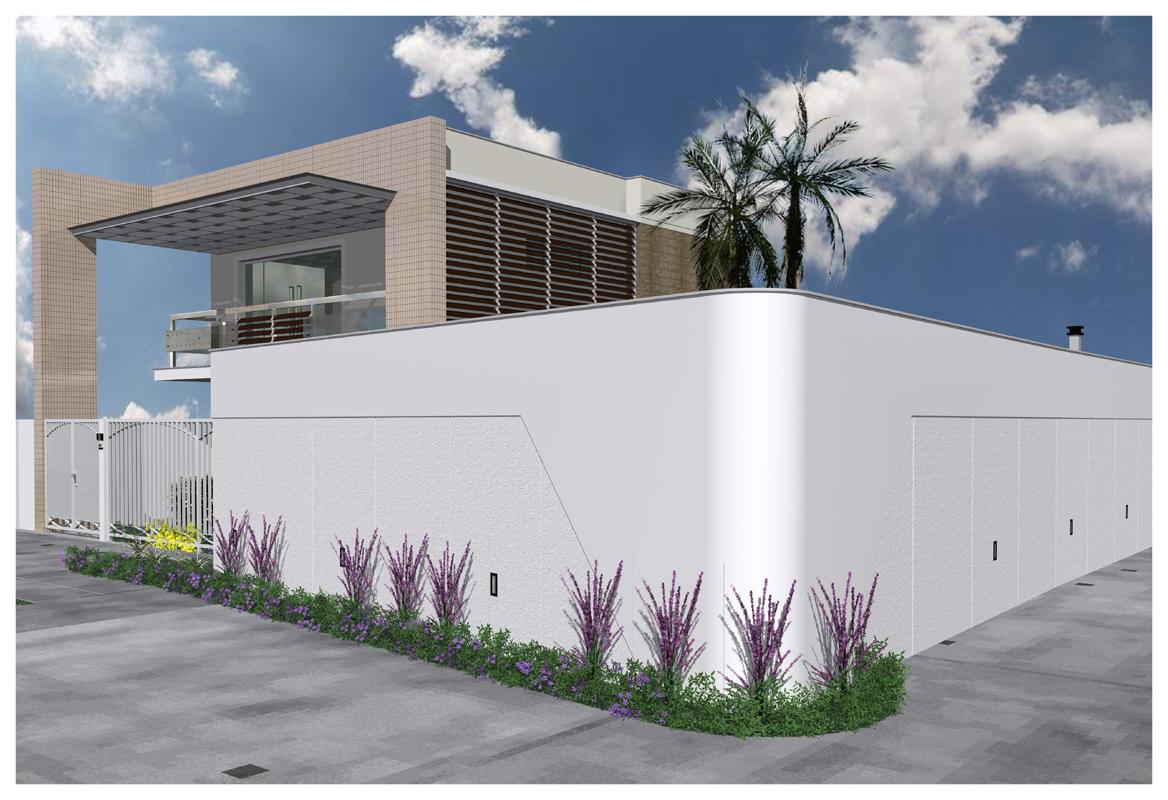Pin images fachada muro residencia moderna ptax dyndns on for Fachada moderna
