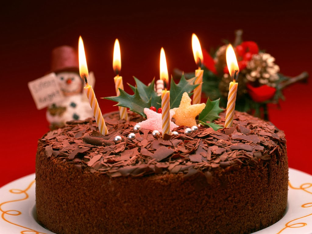 Full Hd Desktop Wallpaper Chocolate Christmas Cake