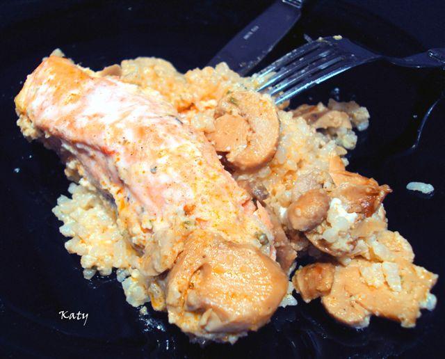 Para hincar el diente k m m k salm n al horno con - Salmon con champinones ...