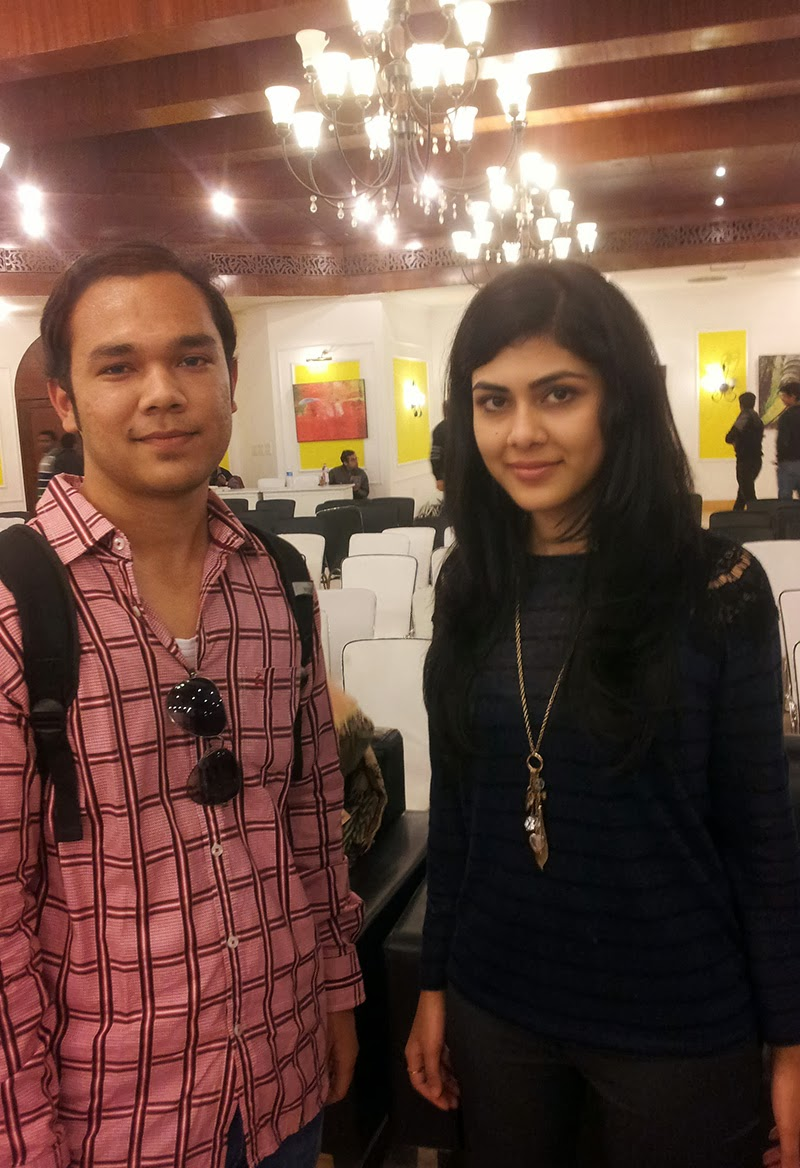 Anmol Rawat with Nikita Singh at Lit Hive 2014
