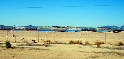 Solar fields in Arizona