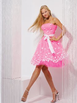 Fashion Now Pink Poofy Prom Dresses
