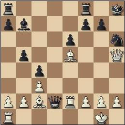Partida de ajedrez Velat vs Cifuentes, Madrid 1950, posición después de 23.Te2