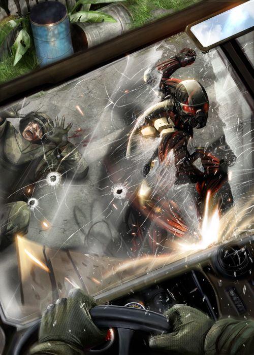 Dan Luvisi deviantart ilustrações digitais fantasia filmes quadrinhos cultura pop Crysis