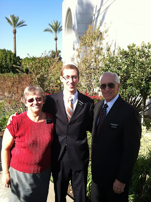 Nelson Met with Grandma & Grandpa Browning at the Redlands Temple
