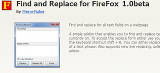 Find Replace Mozilla Firefox