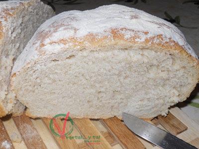 Vista del interior del pan con su miga.