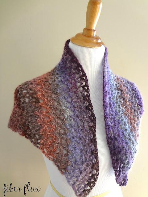 Crochet Pattern For Small Shawl : Fiber Flux: Free Crochet Pattern...Kristen Shawl!
