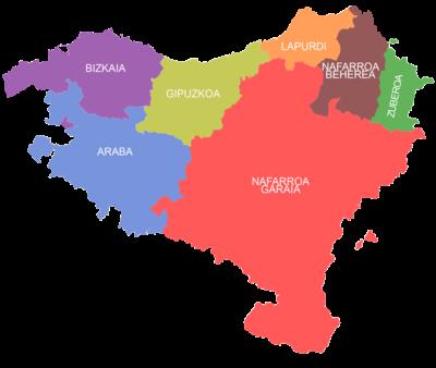 Mapa del País Vasco-Euskal Herria-España-Opinion-Interesante-de todo un poco