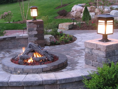 Backyard Fire Pit Plans : Patio outdoor fire pit kits ideas