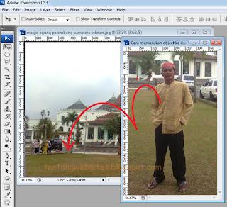 Memasukkan objek kedalam photo