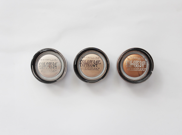 maybelline dare to go nude color tattoos swatches beige-ing beauty caramel cool