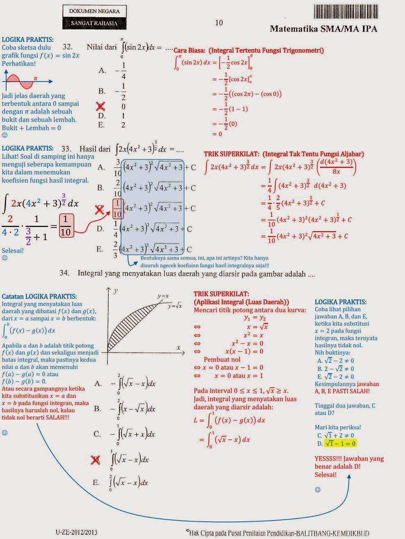 Matematika Di Sma Soal Dan Pembahasan Ujian Nasional Matematika Ipa Sma Ma Lanjutan