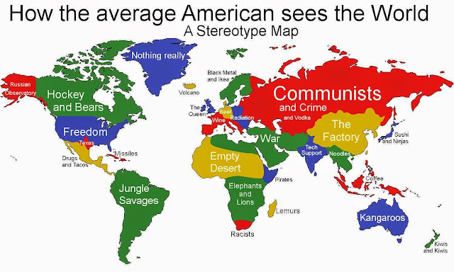 Stereotype map: How the average American Sees the World