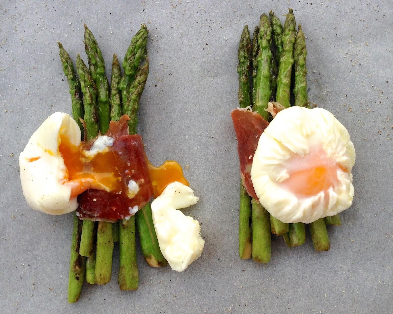 Esparragos Trigueros Con Jamon y Huevo Trigueros Jamón y Huevo
