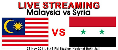 LIVE STREAMING BOLA SEPAK MALAYSIA VS SYRIA OLIMPIK LONDON 2012