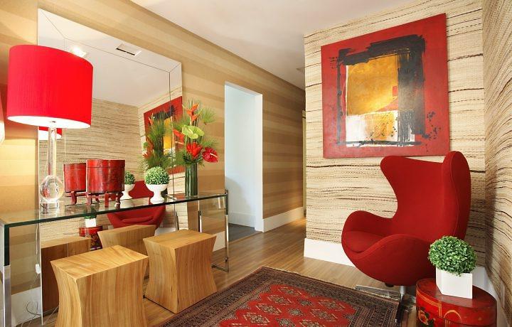 CASA MIDDAS O vermelho na decoração de sua casa