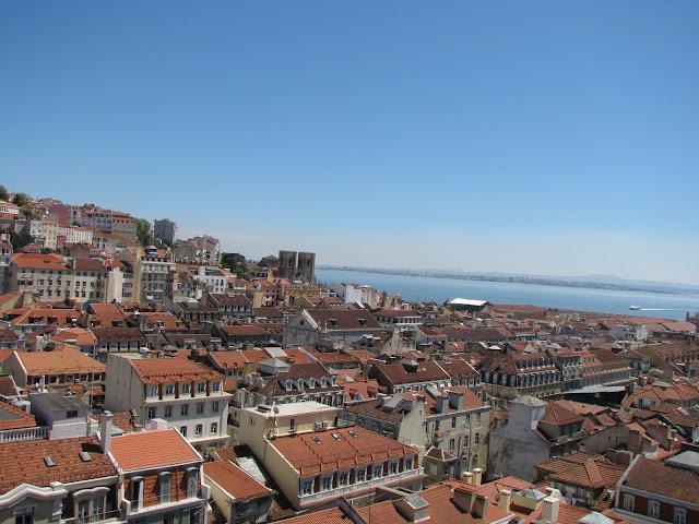 Vistas a Lisboa desde el Elevador de Santa Justa