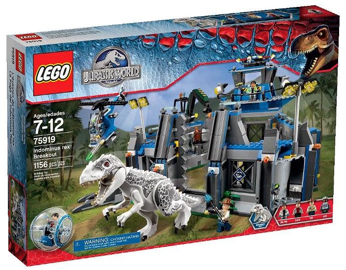 JUGUETES - LEGO Jurassic World  75919 La Fuga del Indominus Rex   Indominus Rex Breakout  Producto Oficial Película 2015 | Piezas: 1156 | Edad: 7-12 años