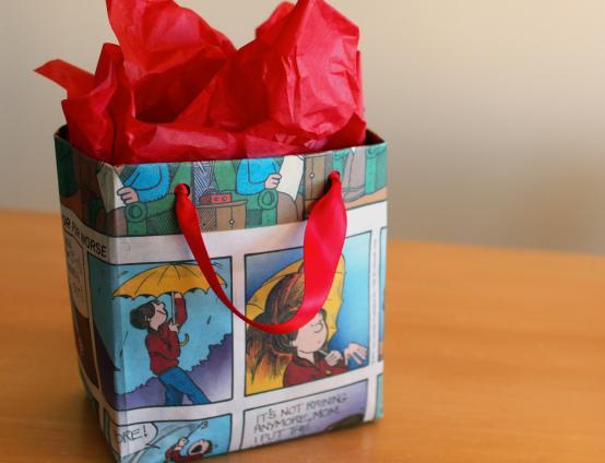 De todas las manualidades bolsas de regalo con papel de - Bolsa de papel para regalo ...