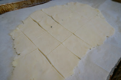 homemade crackers cut up