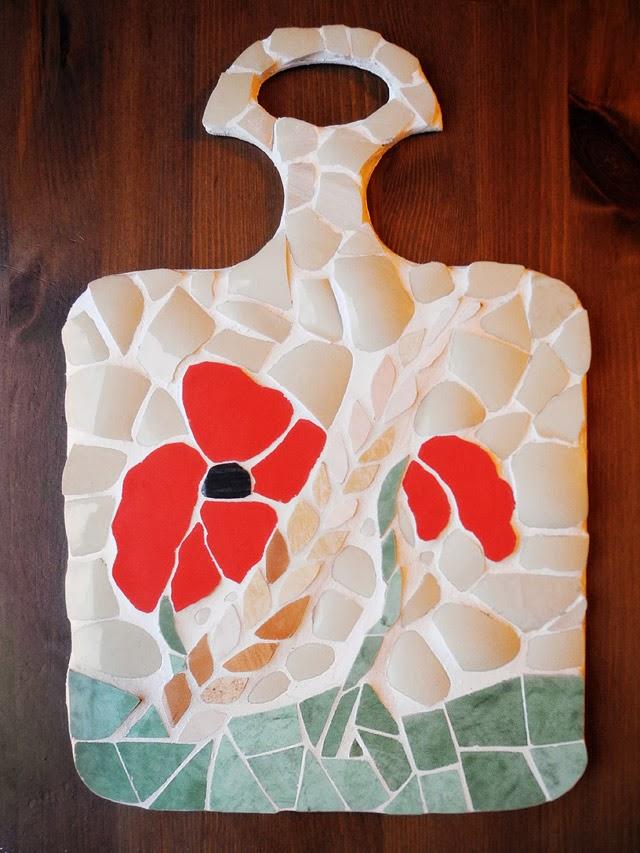 Środowe Inspiracje Magia mozaiki insprujące blogi handmade deska z mozaiką