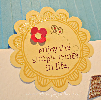 Embossing Technique on Stampin' Up! Scallop Circle Punch