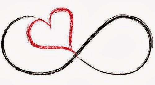 Ιnfinity symbol heart tattoo stencil