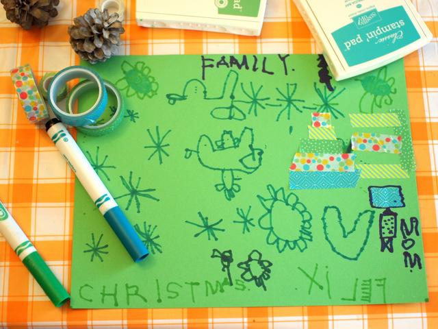preschooler doodles
