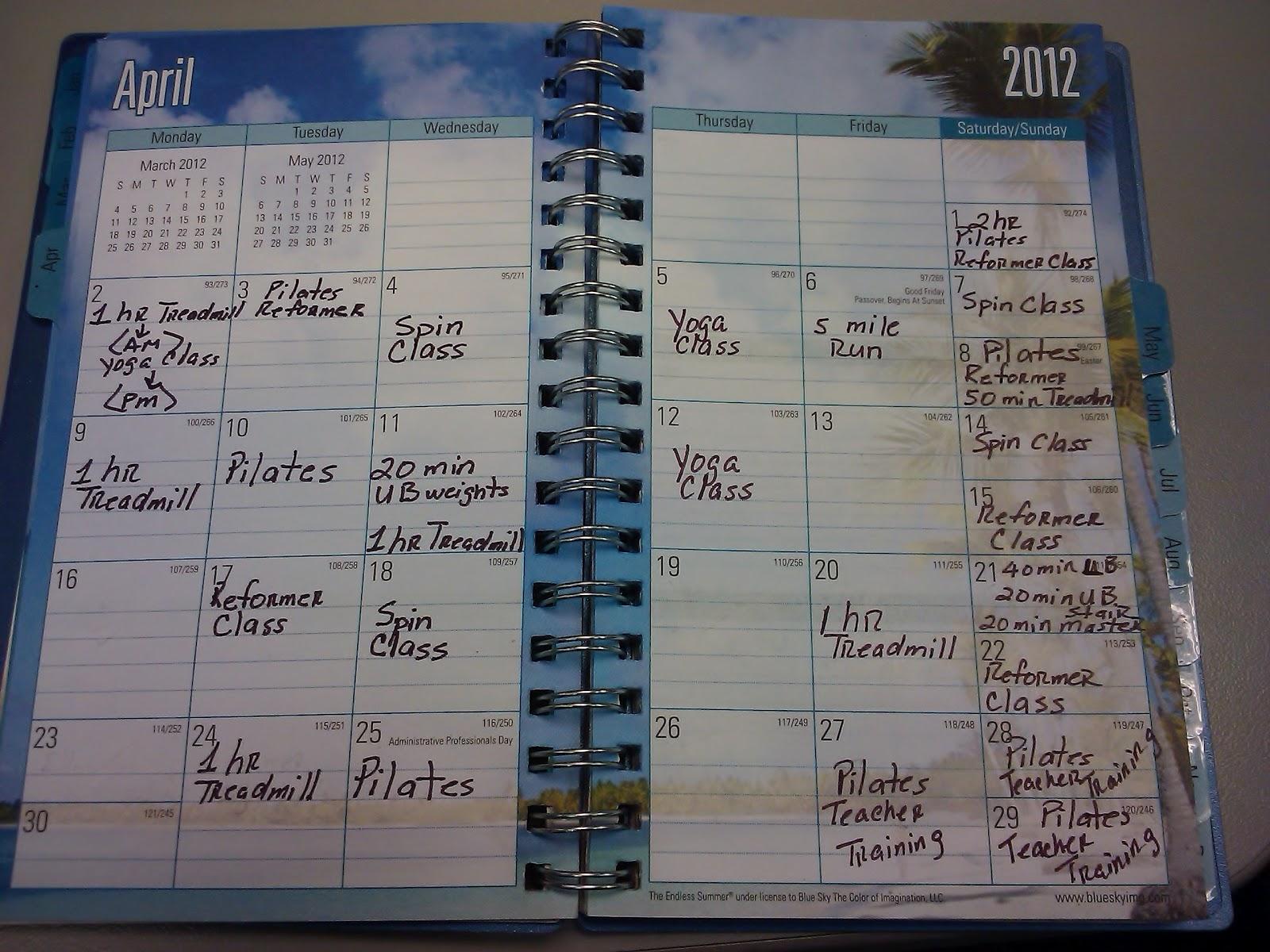 Workouts-April 2012