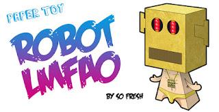 LMFAO Robot Papercraft
