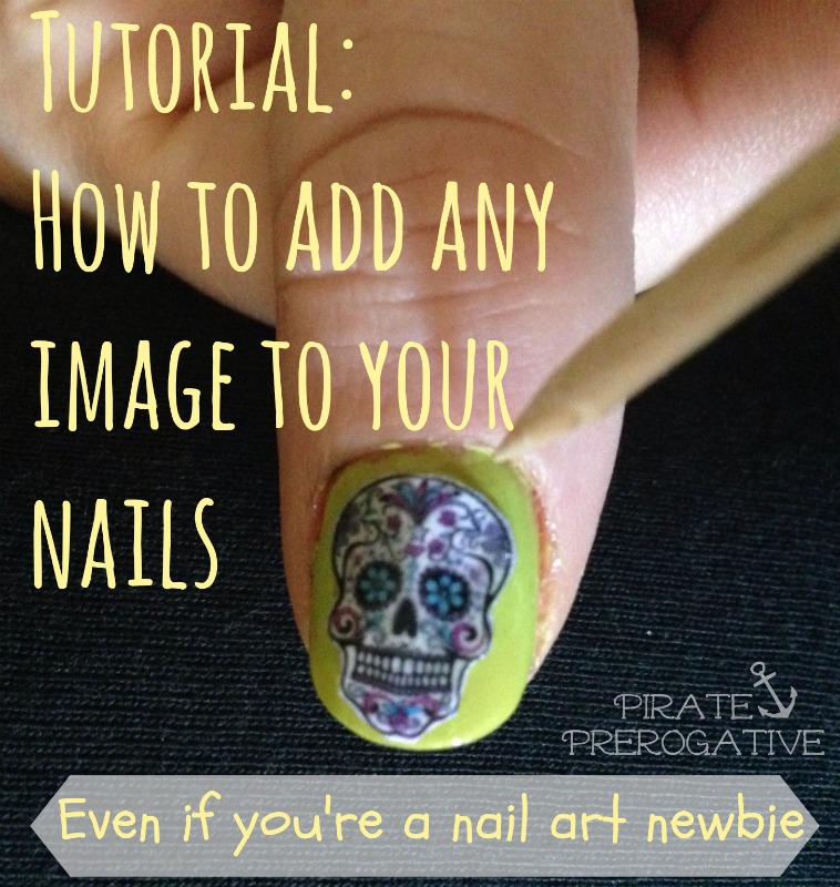 A step by step tutorial for adding any image to you nails. It's so much easier than I thought!