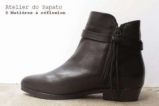 Bottines noires Hiver Atelier do Sapato