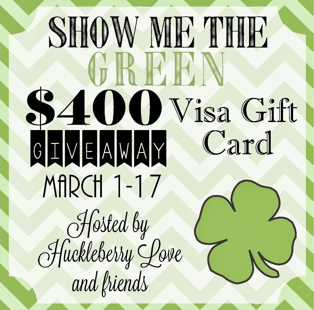 Giveaway show me the green