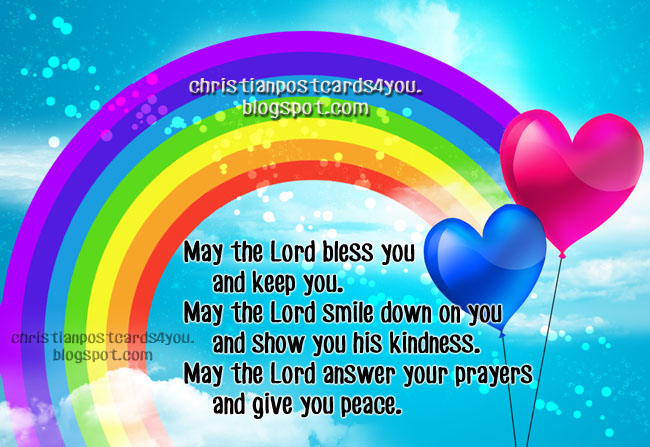 Christian Postcard May the Lord bless you. Christian image, christian verses, bible, biblical cards, bible phrases for friends facebook blessing