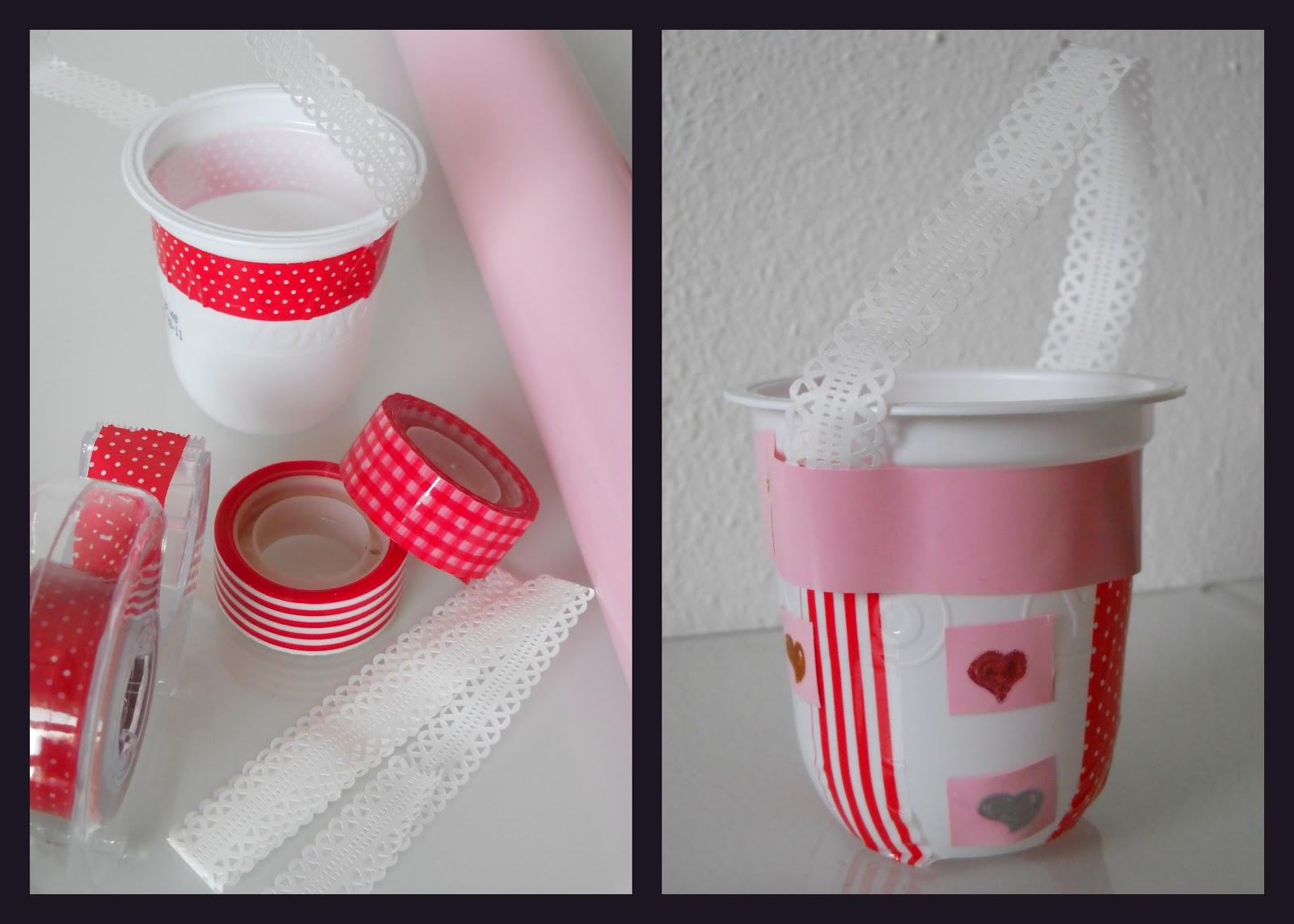 Riciclo natalizio cestini con vasetti dello yogurt a tea for u - Cosa vedo dalla mia finestra tema ...