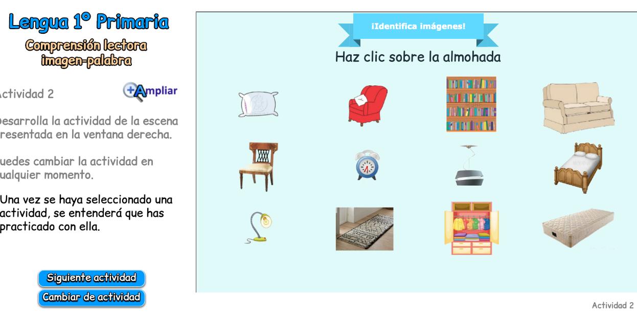 COMPRENSIÓN LECTORA IMAGEN /PALABRA.LECTURA VOCABULARIO DIFERENTES CAMPOS SEMÁNTICOS