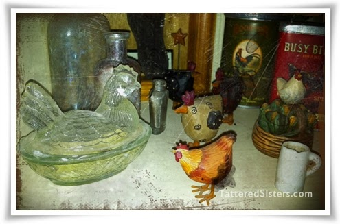 Chickens Primitive Home Decor