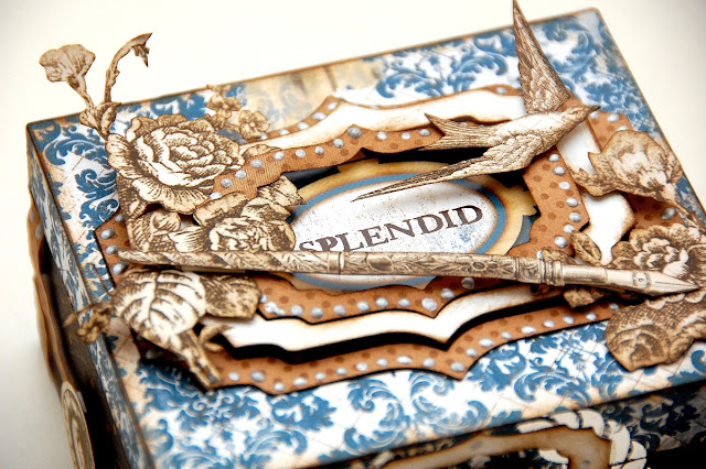 Splendid Altered Box by Irene Tan using BoBunny Provence Collection