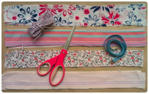 craftypainter: no-sew scrappy bunting DIY