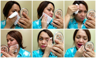 oily skin using ponds photo collage