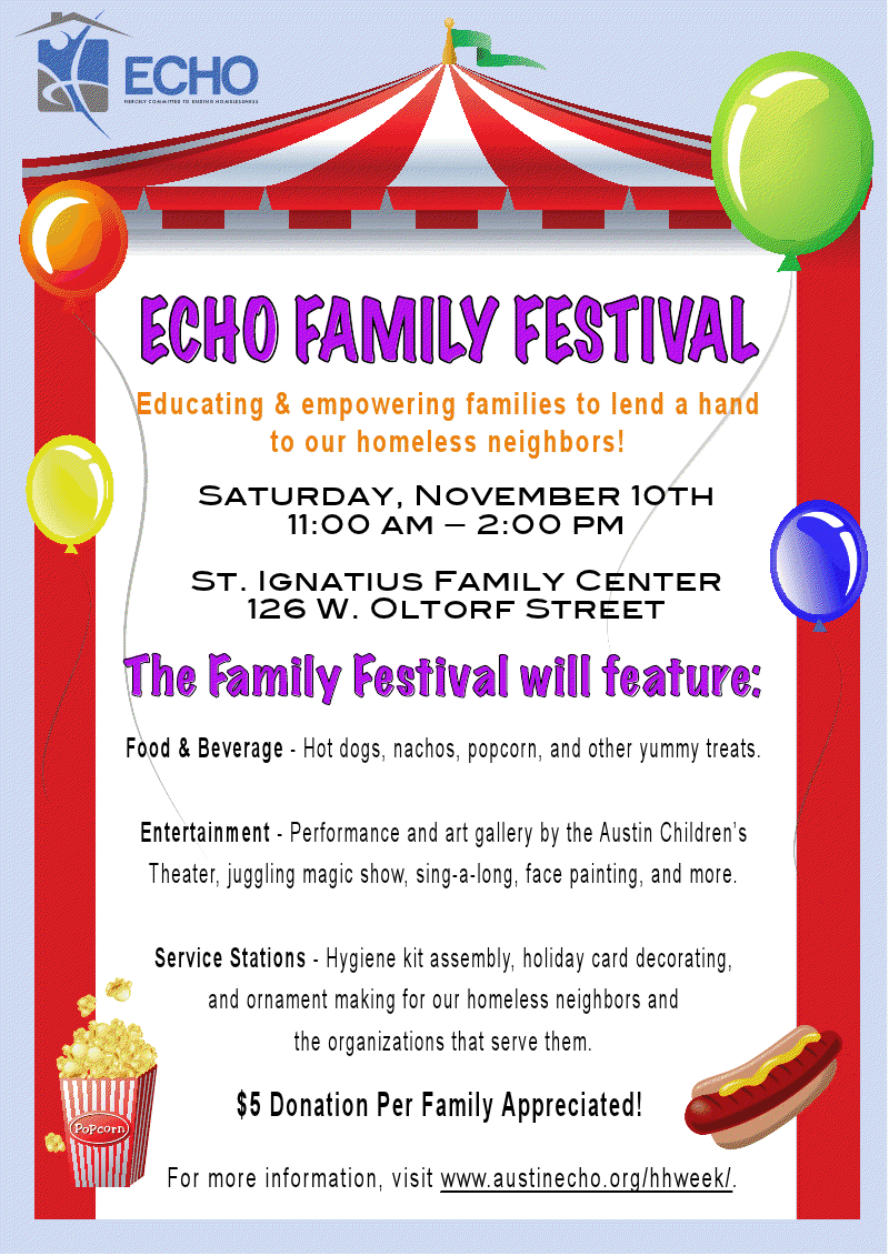SAT, NOV 10: ECHO Family Festival