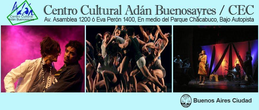 Agenda del Centro Cultural Adán Buenosayres