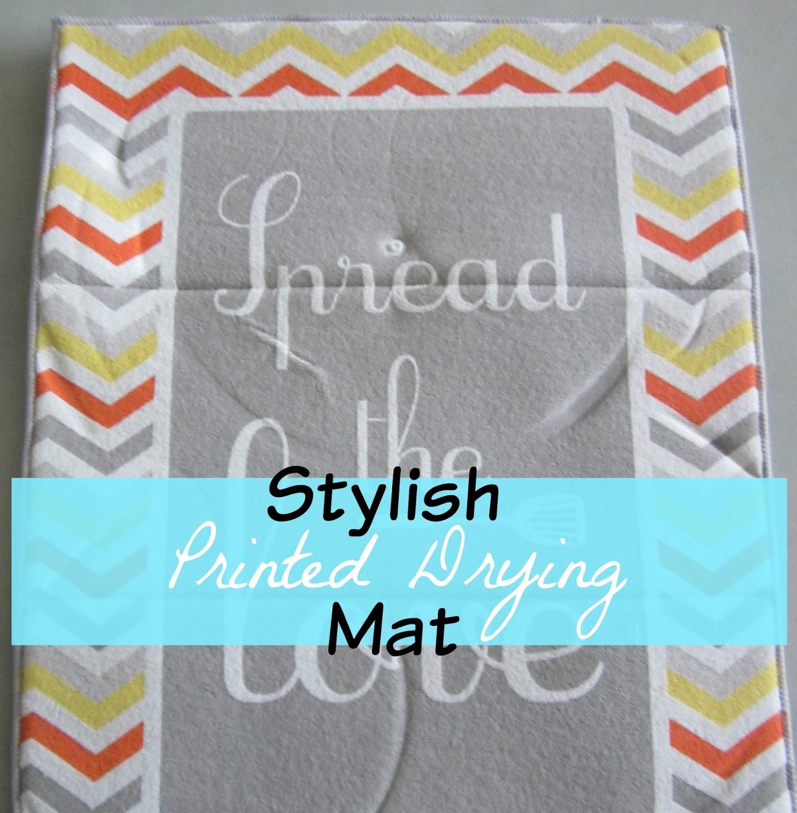 printed drying mat