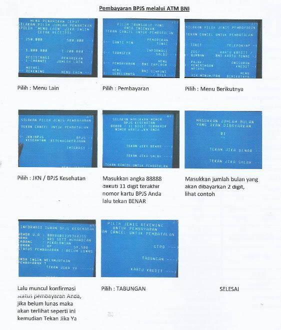 Pembayaran BPJS melalui ATM BNI