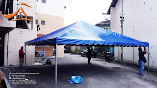 20 x 20 Blue Pyramid Canopy c/w Metal and Canvas - Customer have requested for Blue color Pyramid Canopy to be supplyed at Pusat Komersial Amaniah, Batu Cave.  Since its near to #HariRayaPuasa alot of our clients a requesting for supply for #Arabian and #Pyramid Canopy for#bukapuasa