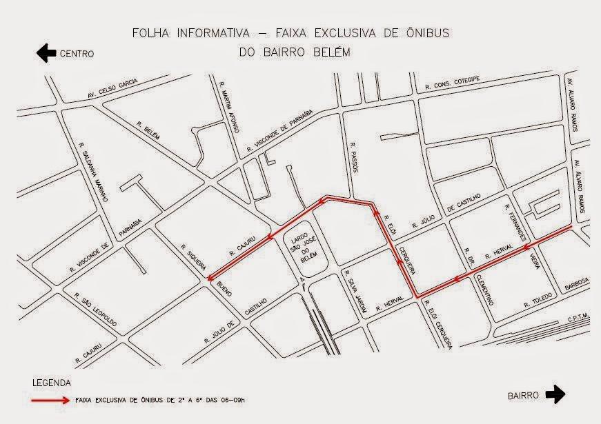 Faixa Exclusiva de Ônibus - Bairro Belém