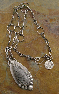 sterling silver agate necklace by Cicada Silver