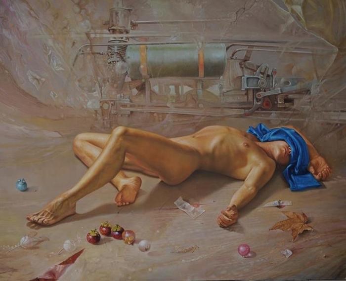 Ramiro Ramírez Cardona 1954 | Colombian Fantastic Realist painter
